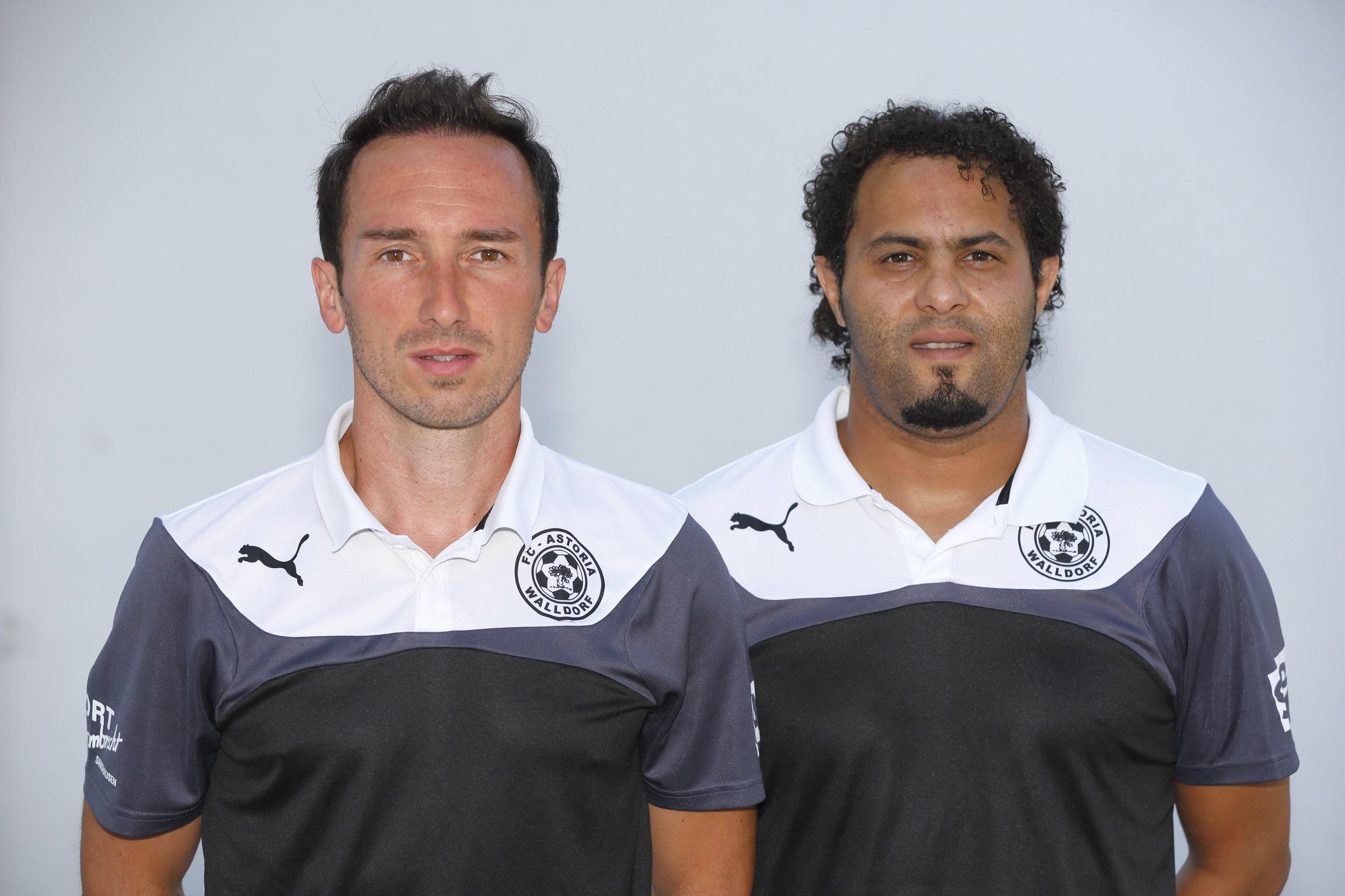 FC Astoria Walldorf II. Saison 2015-2016. Teammanager Roberto Pinto und Adil El Barhami. 04.07.2015 - Jan A. Pfeifer - 01726290959
