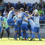 Fussball. DFB-Pokal, 2016-2017, 1. Runde. FC Astoria Walldorf - VfL Bochum. Jubel zum 1:0 fuer Walldorf. Torschuetze Nicolai Gross (FCA Walldorf). 21.08.2016 - Jan A. Pfeifer - 01726290959