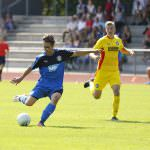 Fussball. Oberliga BW. Saison 2016-2017. 08. Spieltag. FC Astoria Walldorf II - Karlsruher SC II. Salvatore Varese (FCA). 11.09.2016 - Jan A. Pfeifer - 01726290959