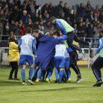 Fussball. DFB-Pokal, 2016-2017, 2. Runde. FC Astoria Walldorf - SV Darmstadt 98. Walldorfer Jubel.26.10.2016 -