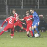 Walldorf. FC Astoria - Walldor gegen VfR Wormatia Worms. Hier Marcel Carl FCA. 02.12.2016 - Helmut Pfeifer.