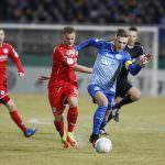 Fussball. DFB-Pokal, 2016-2017, 3. Runde. FC Astoria Walldorf - Arminia Bielefeld. Timo Kern (FCA Walldorf). 07.02.2017 - Jan A. Pfeifer - 01726290959