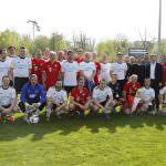 Fussball. Bayern Allstars - SAP Digital Heros. Mannschaftsfoto. 05.04.2017 - Jan A. Pfeifer - 01726290959