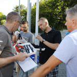 Walldorf. FCA Trainingauftakt mit Laktattests durch die Mitarbeiter des OSP Heidelberg. 26.06.2017 - Helmut Pfeifer.
